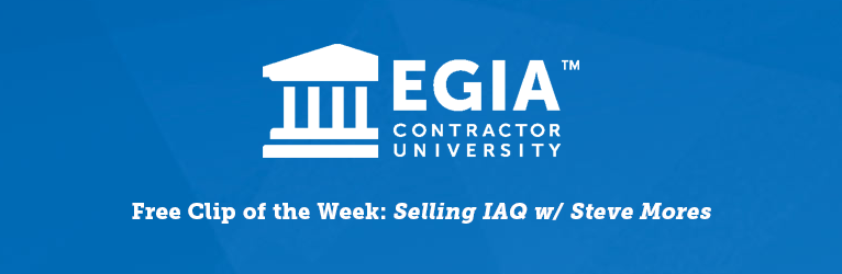 Clip of the Week   Selling IAQ with Steve Mores