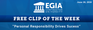 EGIA Clip of the Week - Personal Responsibility Drives Success