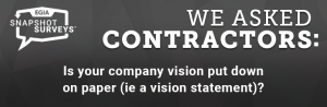 EGIA Snapshot Survey - Is your company vision statement put down on paper?