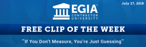 EGIA Clip of the Week - If You Don't Measure, You're Just Guessing