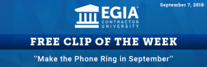 EGIA Clip of the Week - How to make the phone ring in September
