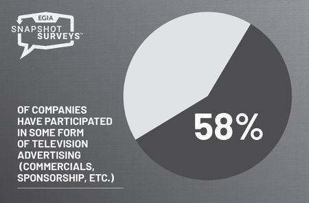 EGIA Snapshot Survey - has your company ever done any form of television advertising