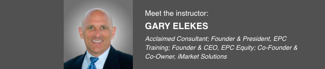 Lead Coordination - Meet Instructor Gary Elekes